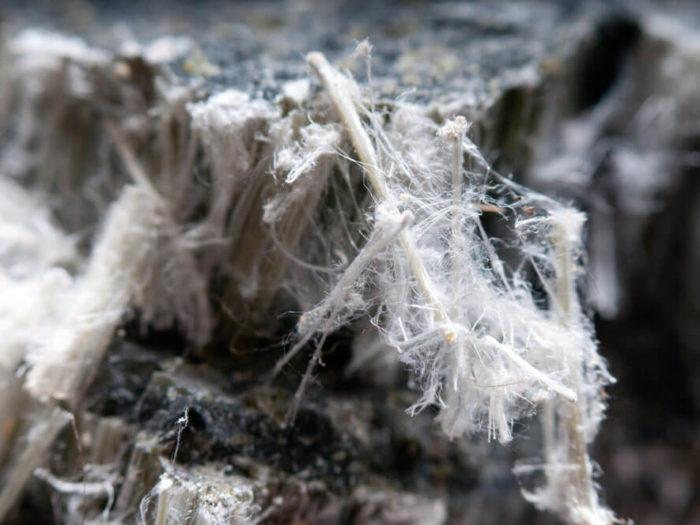 filamenti di amianto