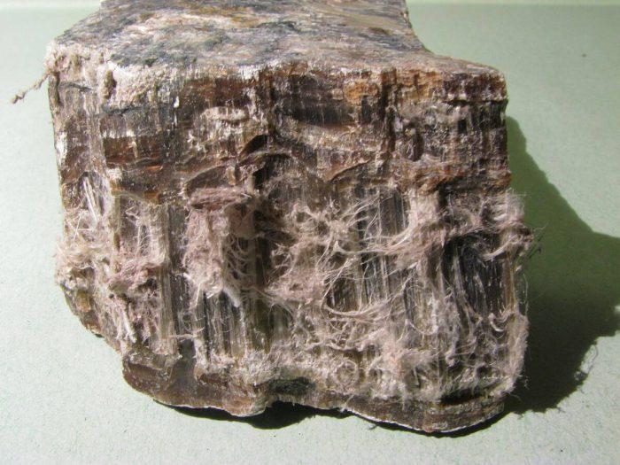 frammento di amianto crisolito