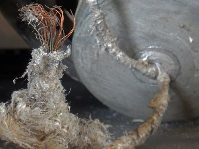 Amianto friabile cavi elettrici