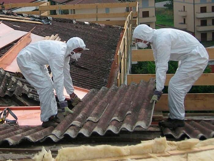 rimozione amianto dal tetto